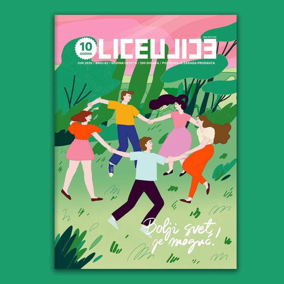 MILICA GOLUBOVIC - Lice Ulice Magazine (RS) | Cover illustration