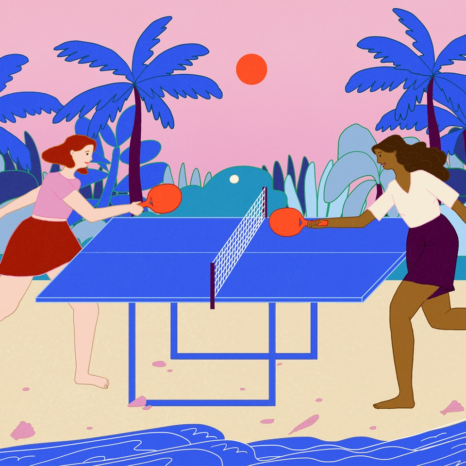 MILICA GOLUBOVIC - Table tennis on the beach | Personal work