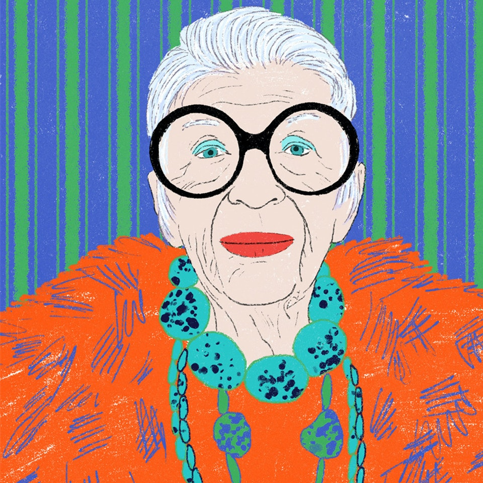Portraits  | Commissioned and Personal work Milica_Golubovic_Iris_Apfel_v2