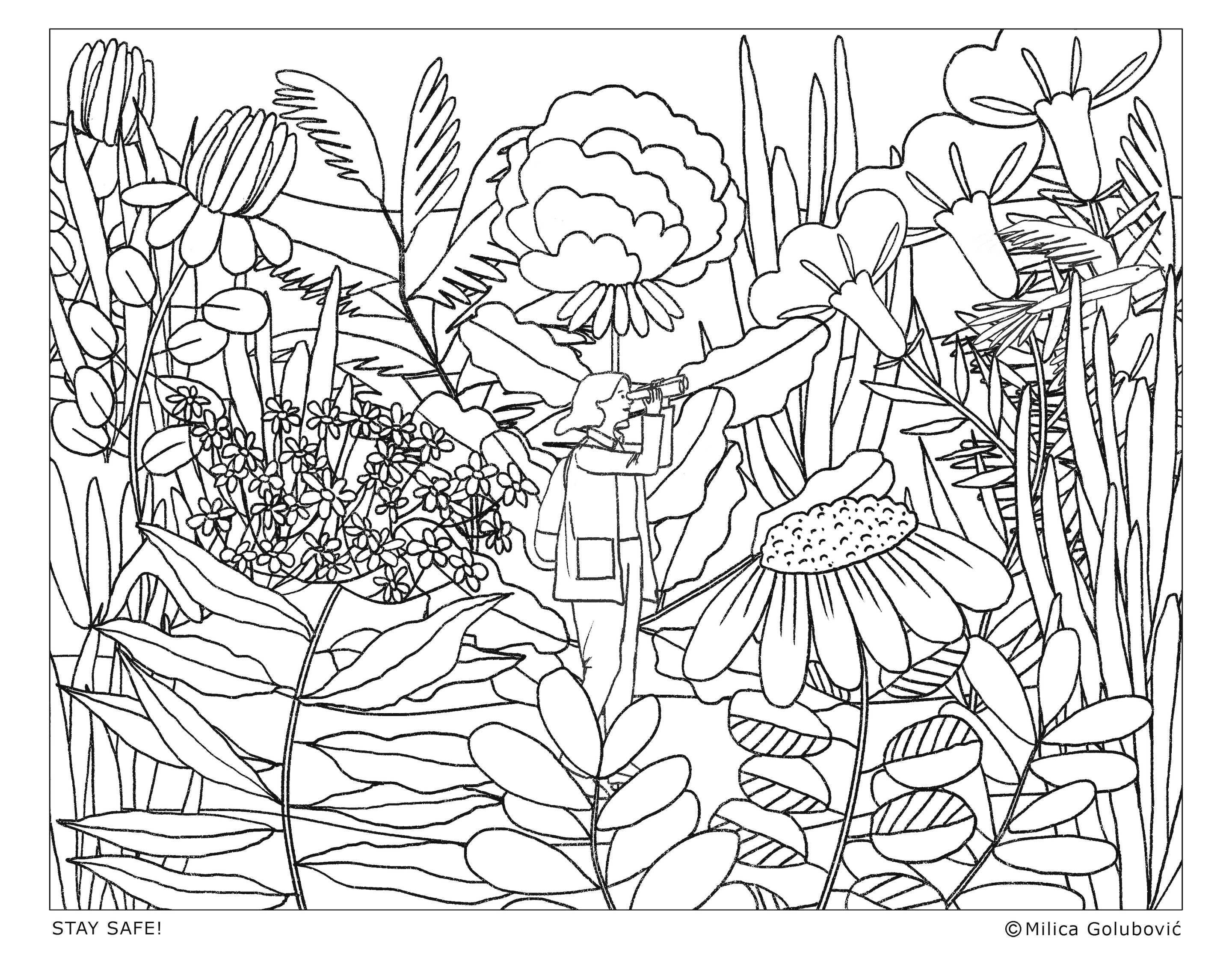 MILICA GOLUBOVIC - Earth day coloring sheet 300dpi D