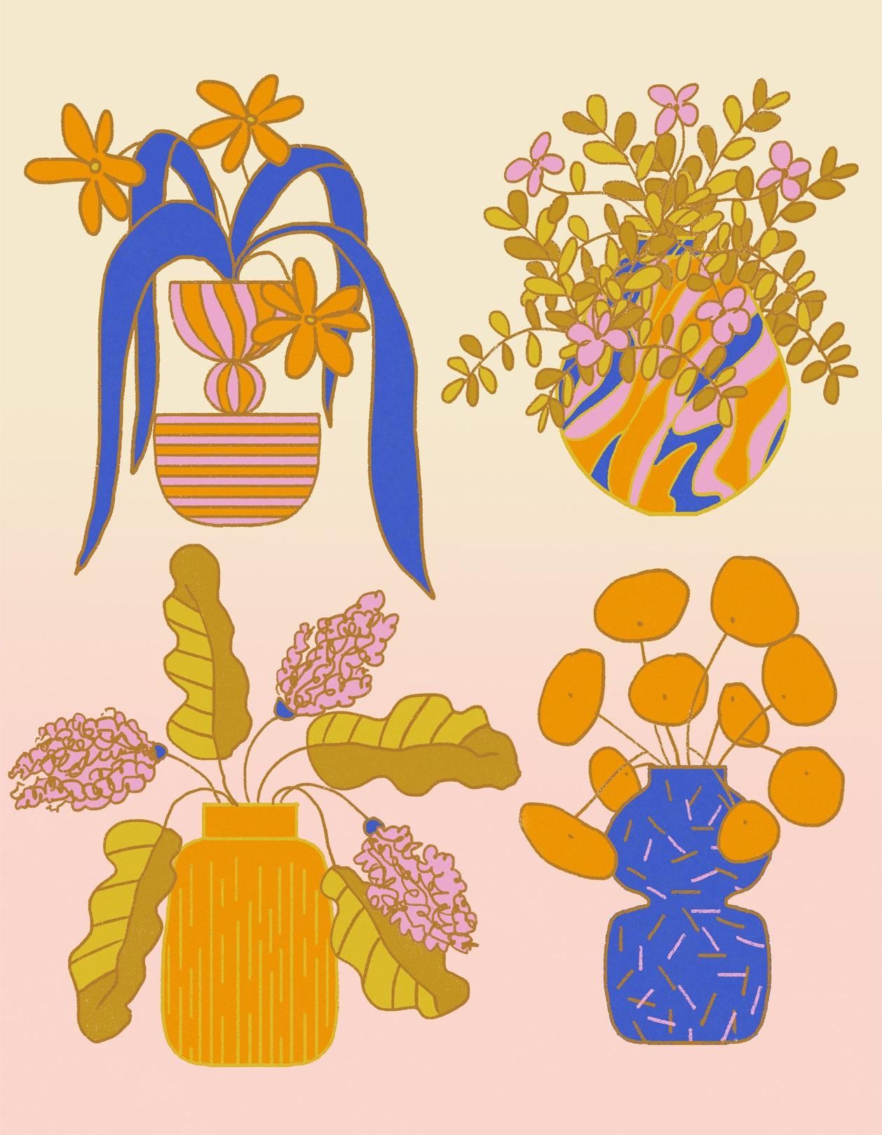 MILICA GOLUBOVIC - 4 vases web
