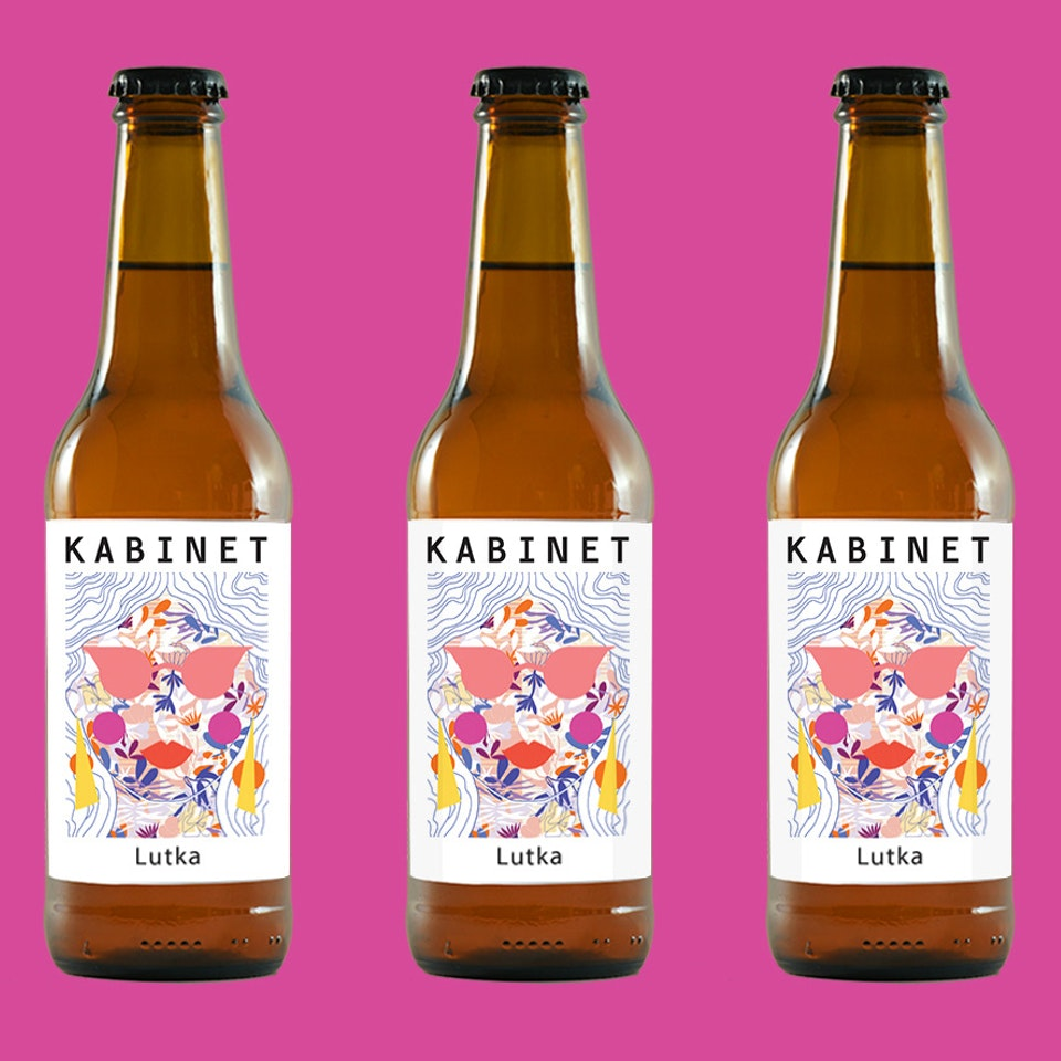 MILICA GOLUBOVIC - Kabinet Brewery (RS) | Beer label illustration
