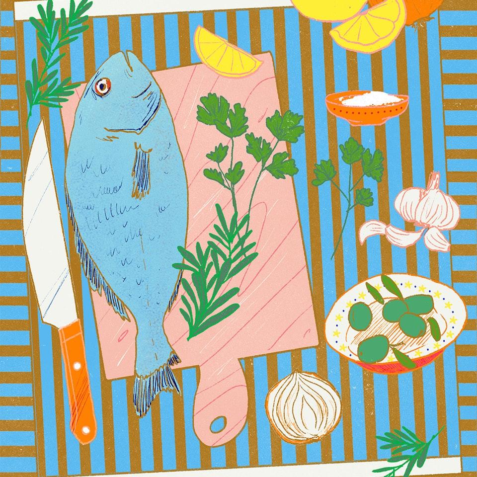 Milica Golubovic - Food illustrations