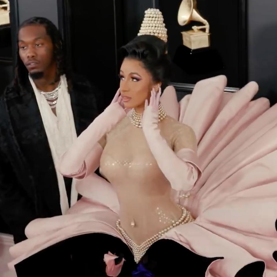 Behind Cardi B's Grammys Looks x Vogue - Screen Shot 2021-04-23 at 12.53.49 am