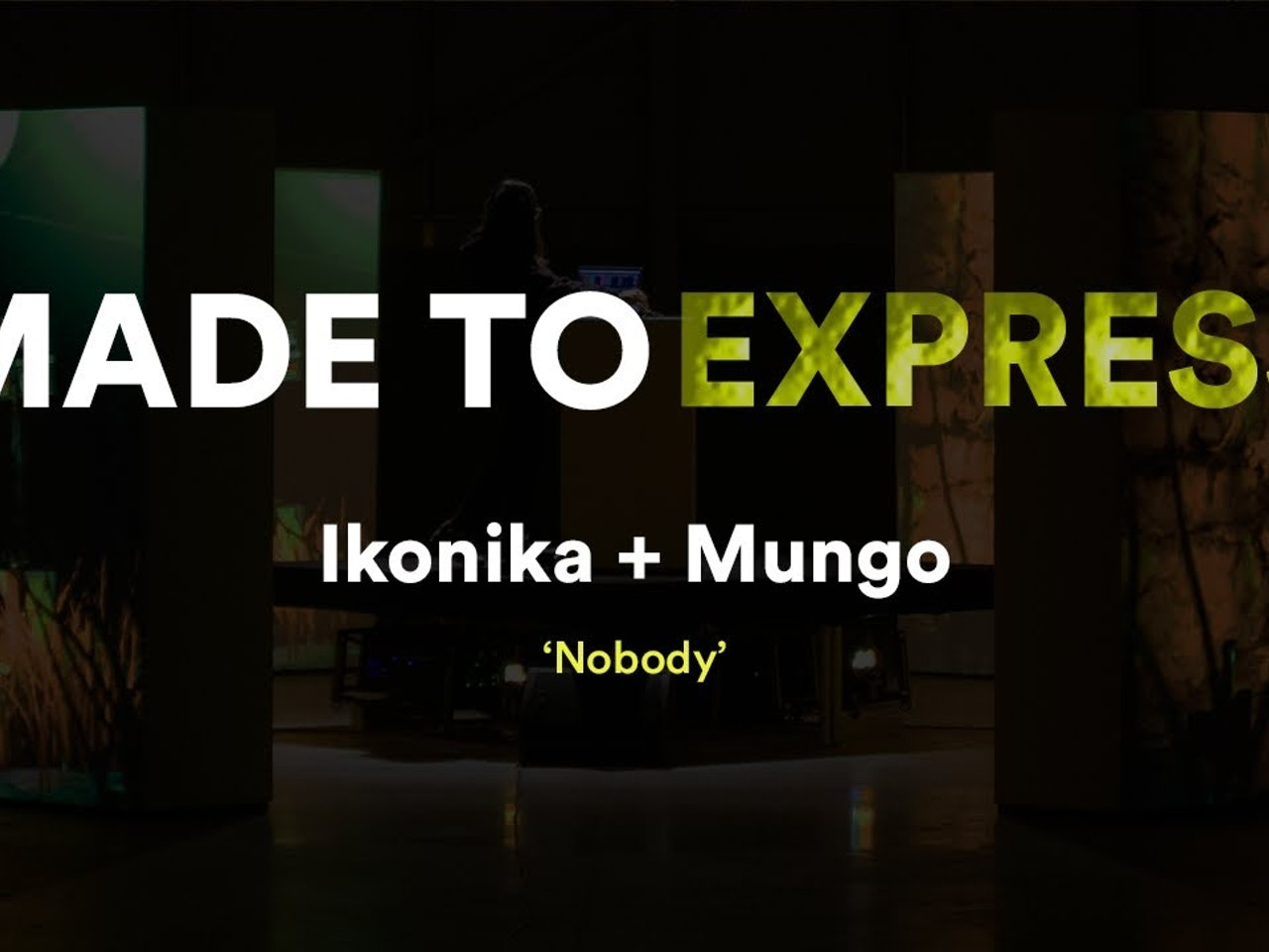 Ikonika + MUNGO 'Nobody' - Made to express // Novation