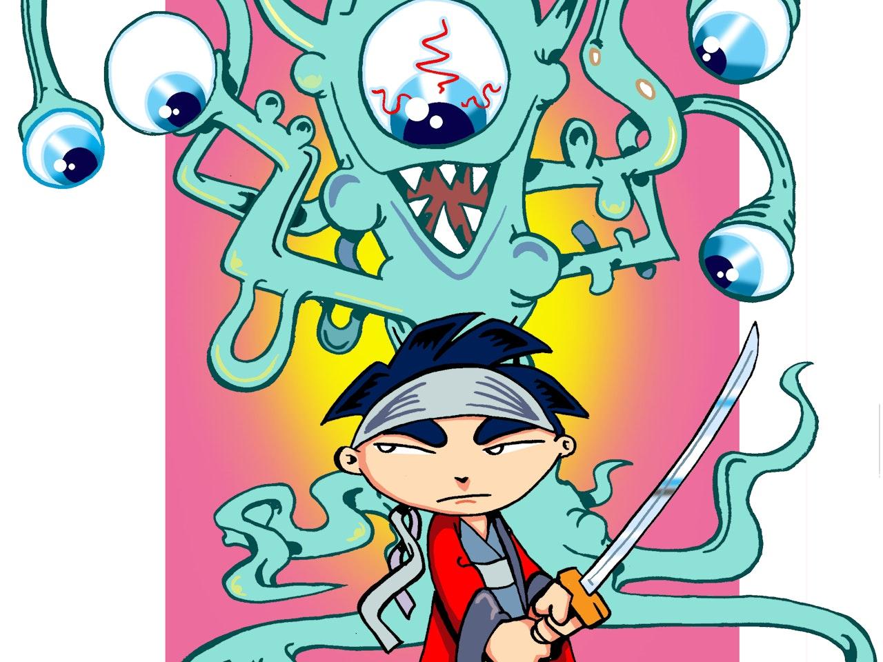 samurai sword japan Cool friendly funny Funky Happy manga anime childrens cartoon comic strip Book cover illustration animation  urban vinyl toy  harajuku    friendly monsters aliens