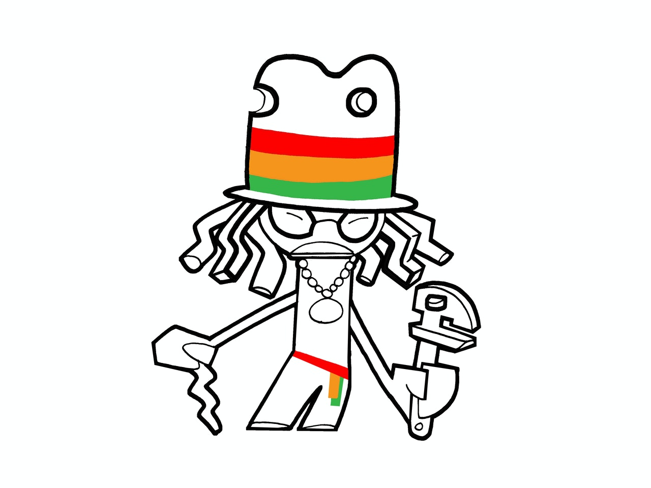 rasta yardman ratchet dreadlock rudie rude boy fun friendly cartoon tattoo  logo icon emoji linework simple basic emoticon mascot avatar sprite animation anthropomorphic character urban vinyl toy street art  pictoplasma graffiti graff