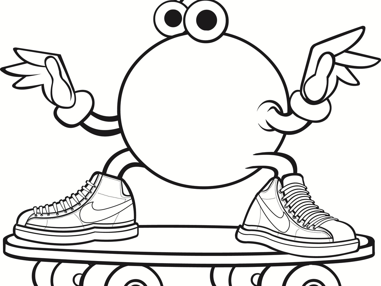 skateboard trainers sneakers fun friendly cartoon tattoo  logo icon emoji linework simple basic emoticon mascot avatar sprite animation anthropomorphic character urban vinyl toy street art  pictoplasma graffiti graff
