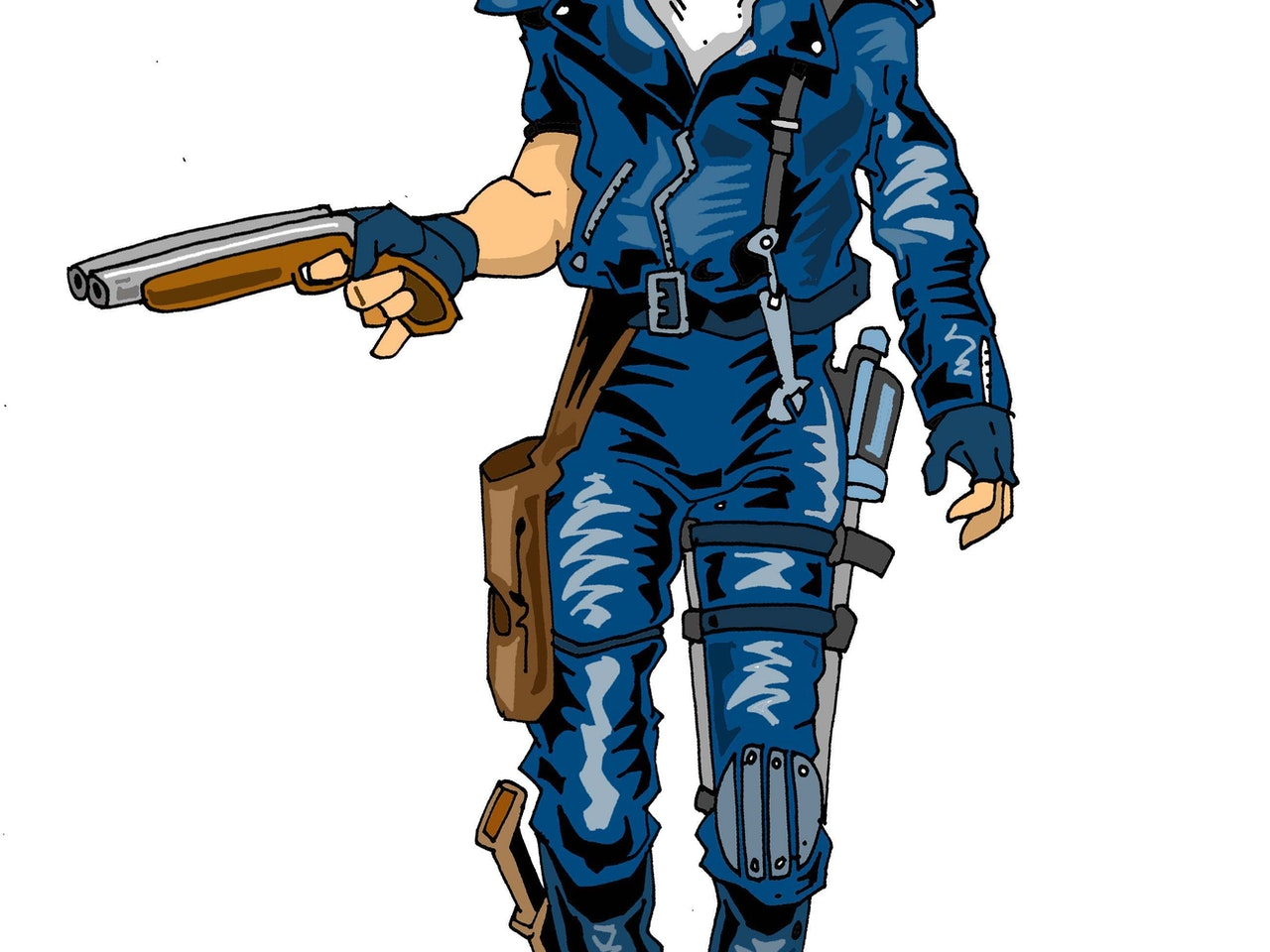 humorous comical colourful graphic cartoon anime comic strip sci fi fantasy road warrior apocalyptic dystopian shotgun thunderdome fury road