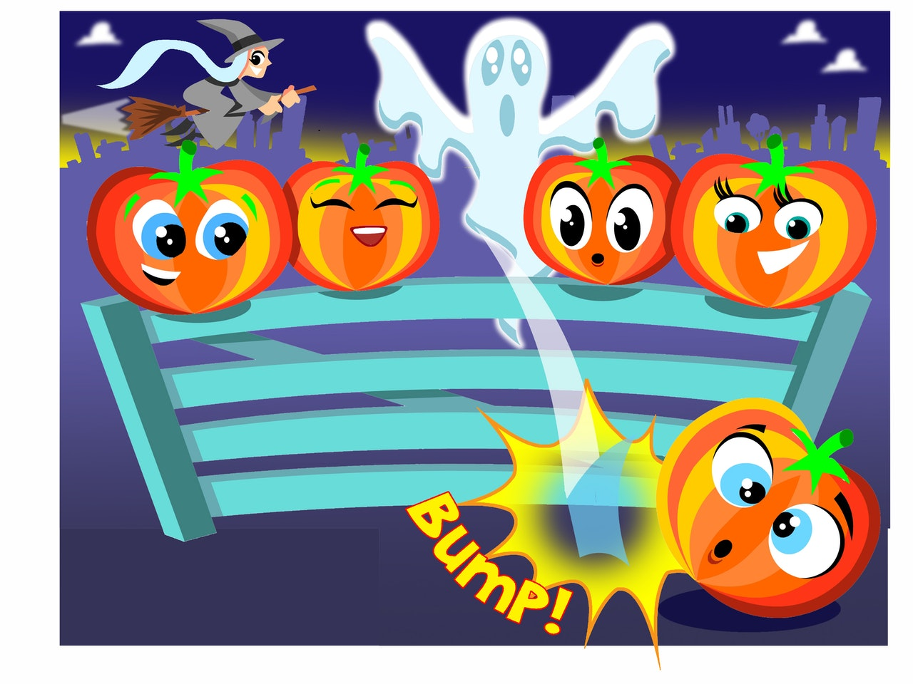 Cool funny Funky Happy manga anime childrens cartoon music singing dancing activity healthy spooky ghosts halloween pumpkins witch