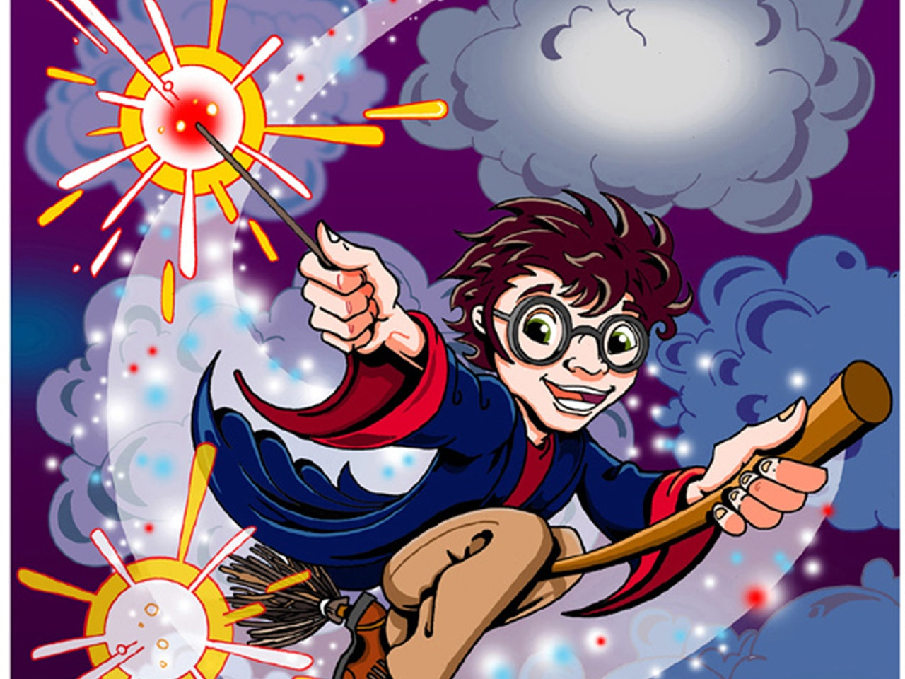 Cool friendly funny Funky Happy manga anime childrens cartoon comic strip magic spells wizard