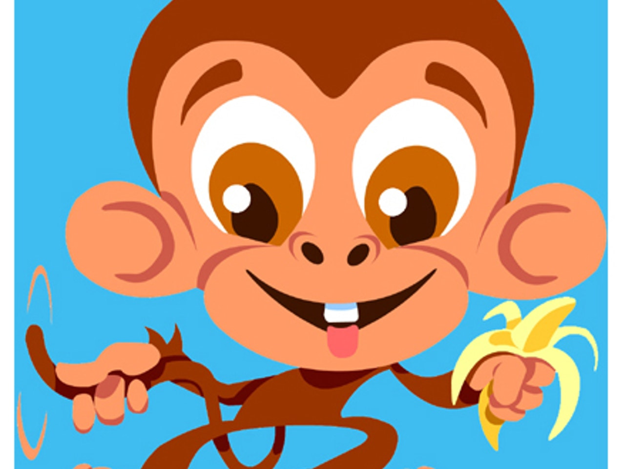 Cool friendly funny Funky pre school Happy manga anime childrens cartoon comic  cheeky monkey