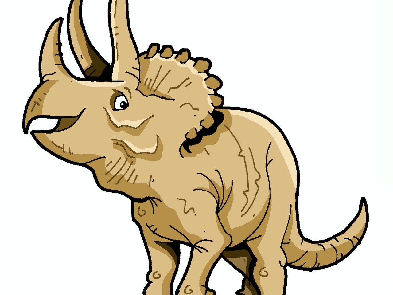 Cool friendly funny Funky Happy manga anime childrens cartoon comic  dinosaur triceratops prehistoric