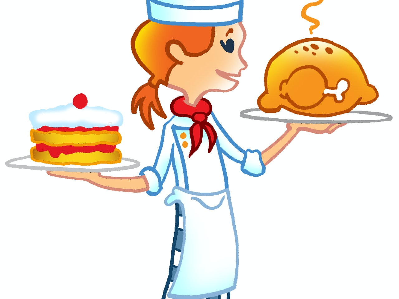 baking cooking  roasting food preparation teen girl chef illustration animation  humorous comical colourful graphic cartoon manga anime publishing