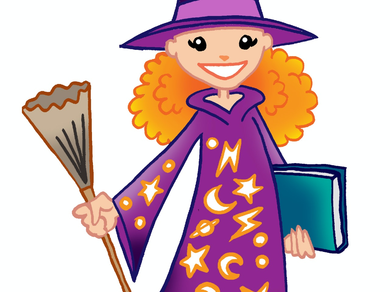 witch wizard magic teen girl spells broom harry potter illustration animation  humorous comical colourful graphic cartoon manga anime publishing happy