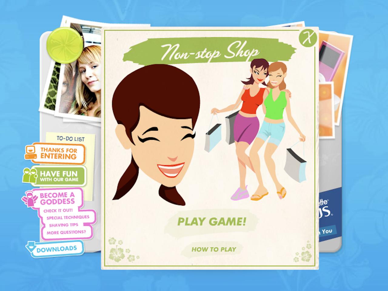 girls shopping friends mobile website internet online game gaming