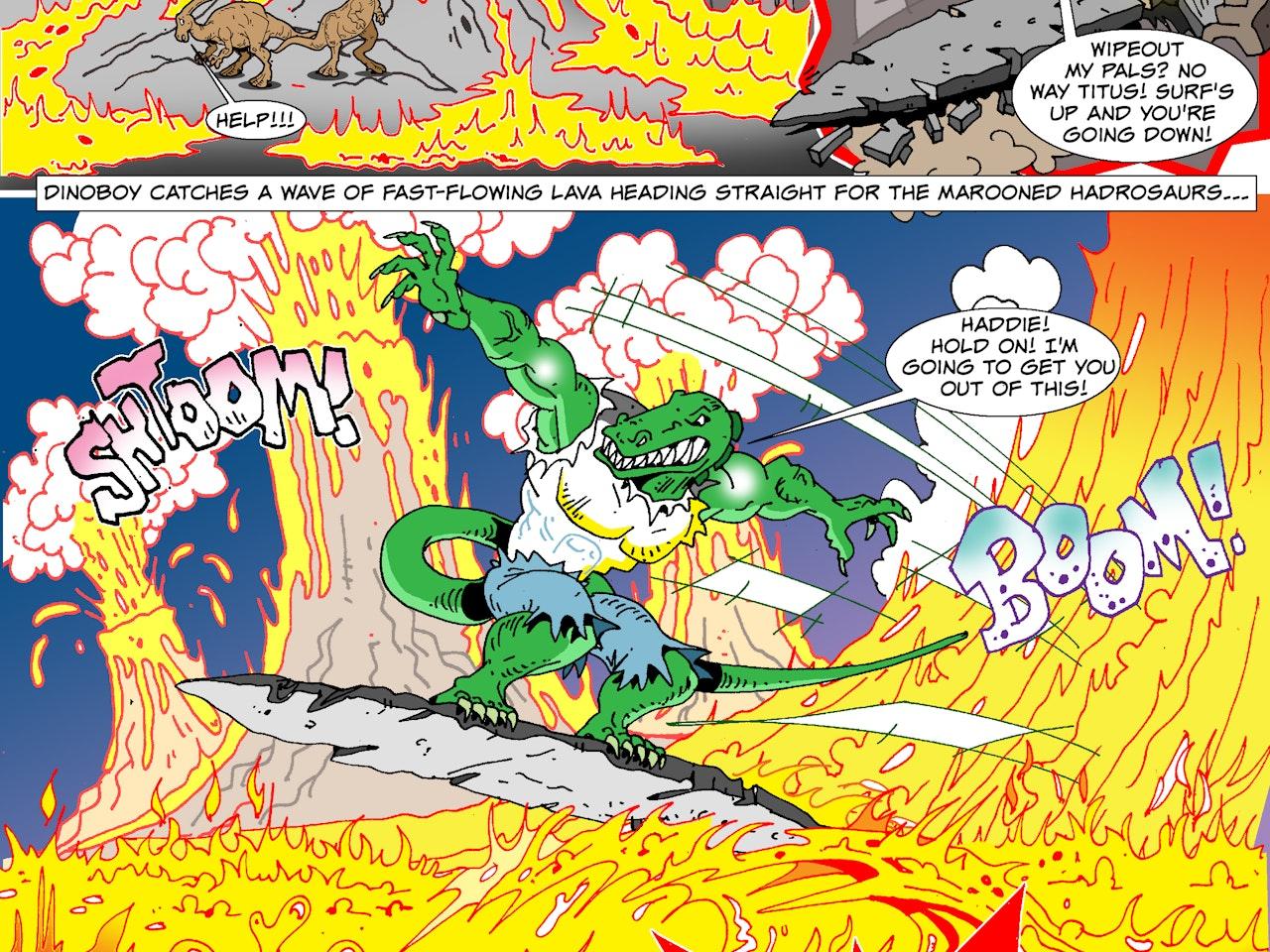 illustration animation  funny humorous comical colourful graphic cartoon manga anime publishing dinosaur prehistoric action fantasy adventure storyboard