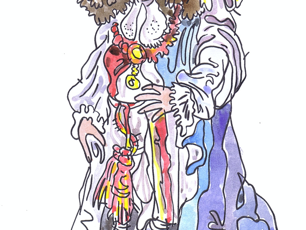 watercolour painting pen and ink coloured pencil Book cover childrens illustration animation funny  humorous comical colourful graphic novel comic strip cartoon comic book educational publishing historical history  royal regal court london monarch medieval jewels regency
