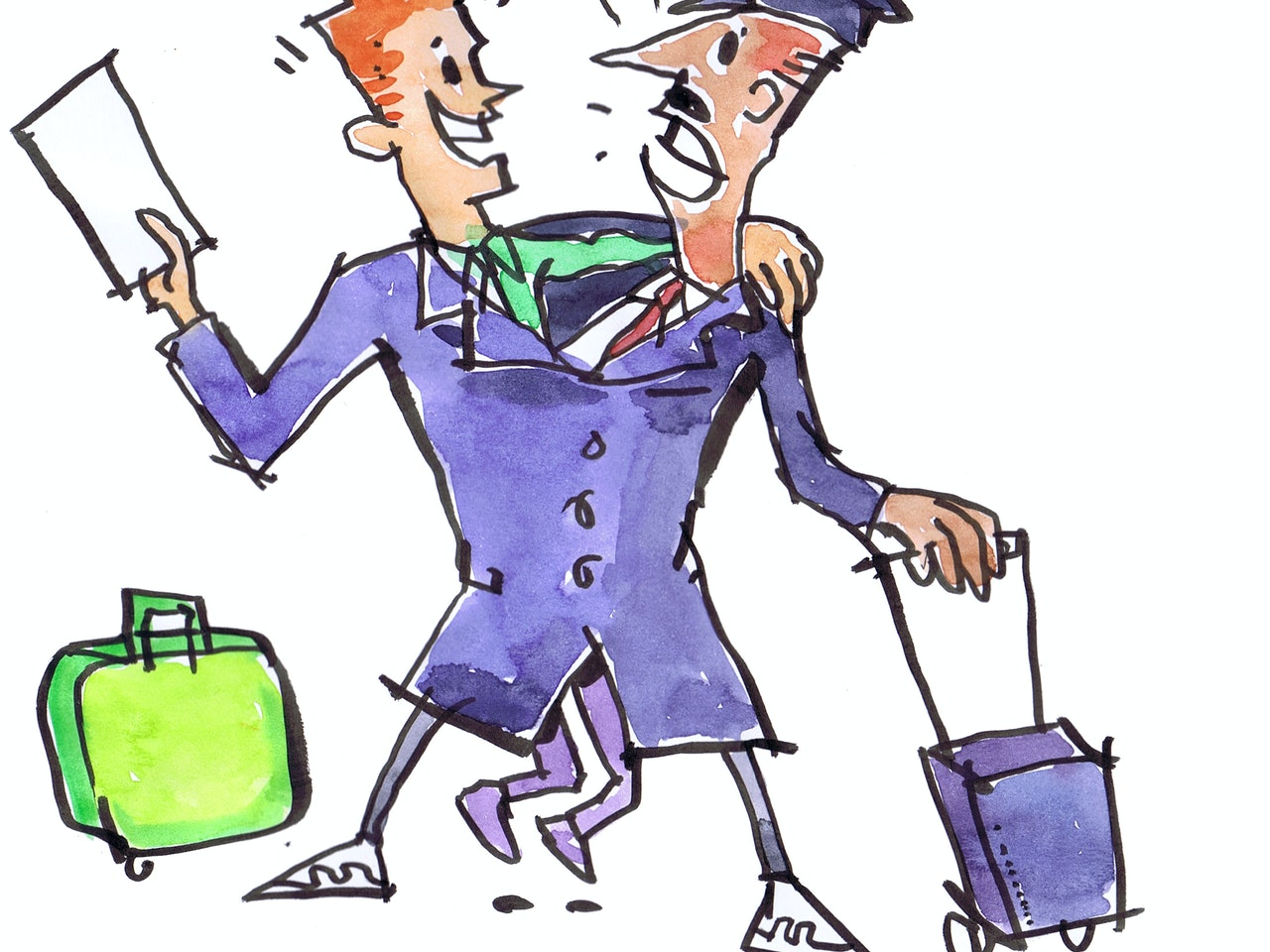 pilot airplane air travel ticket holiday captain watercolour painting pen and ink coloured pencil Book cover childrens illustration animation funny  humorous comical colourful graphic novel comic strip cartoon comic book educational publishing comedy cringe joker