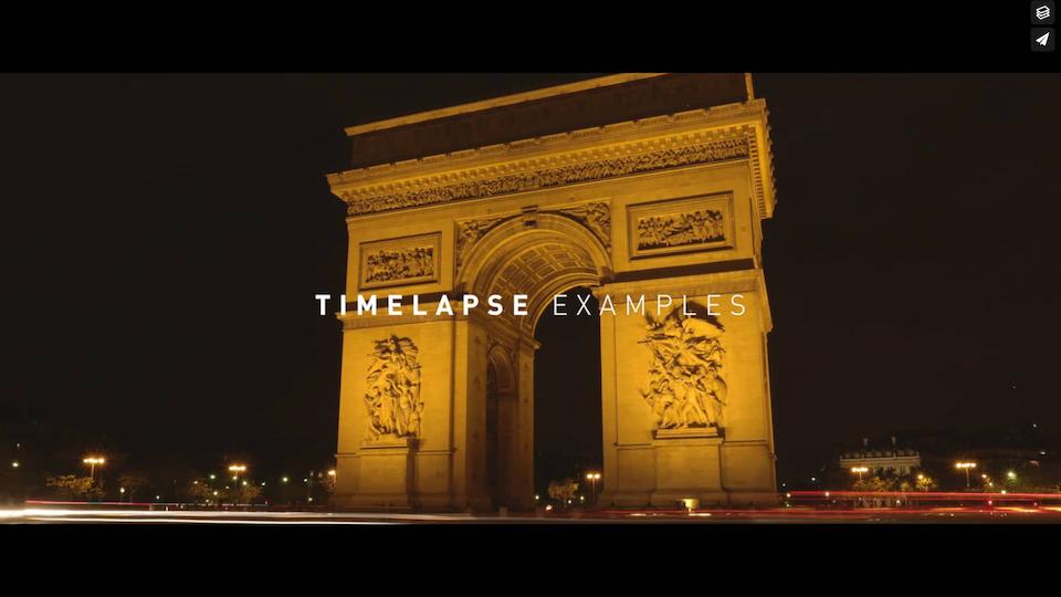 Timelapse Example Reel