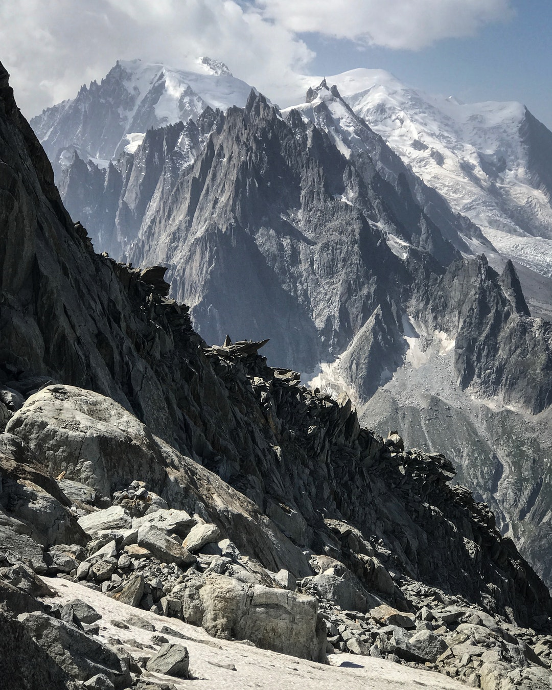 Aguille Du Midi From Grand Montets