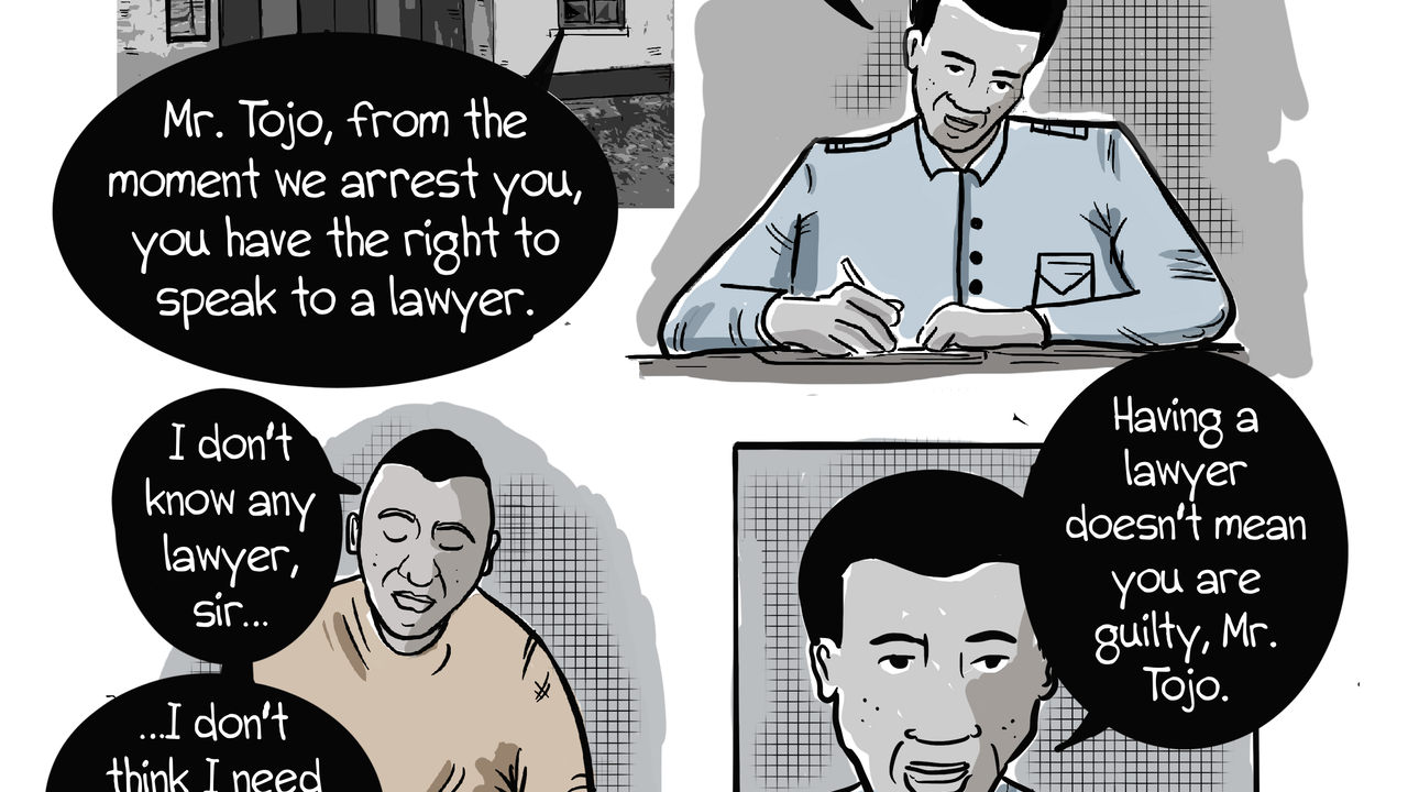 Infocomic for Madagascar's Police Handbook