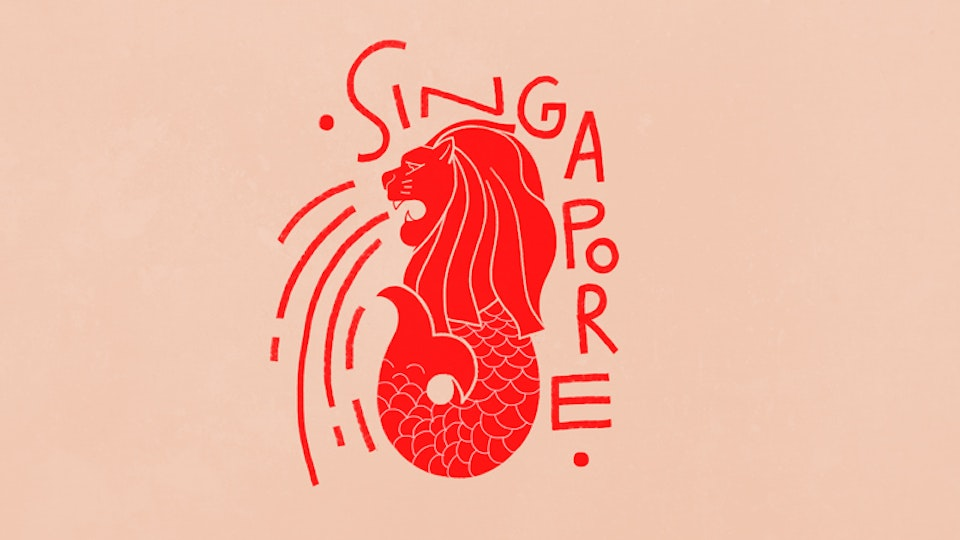 Temporary tattoos for Singapore Day
