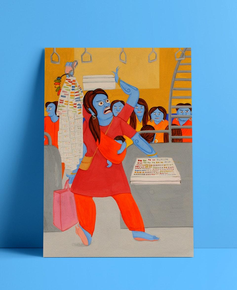 Mumbai local trains x Tibetan art