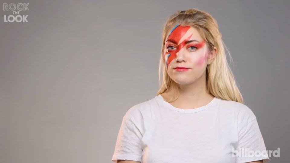 Rock The Look | David Bowie Lightning Bolt Makeup Tutorial | Billboard