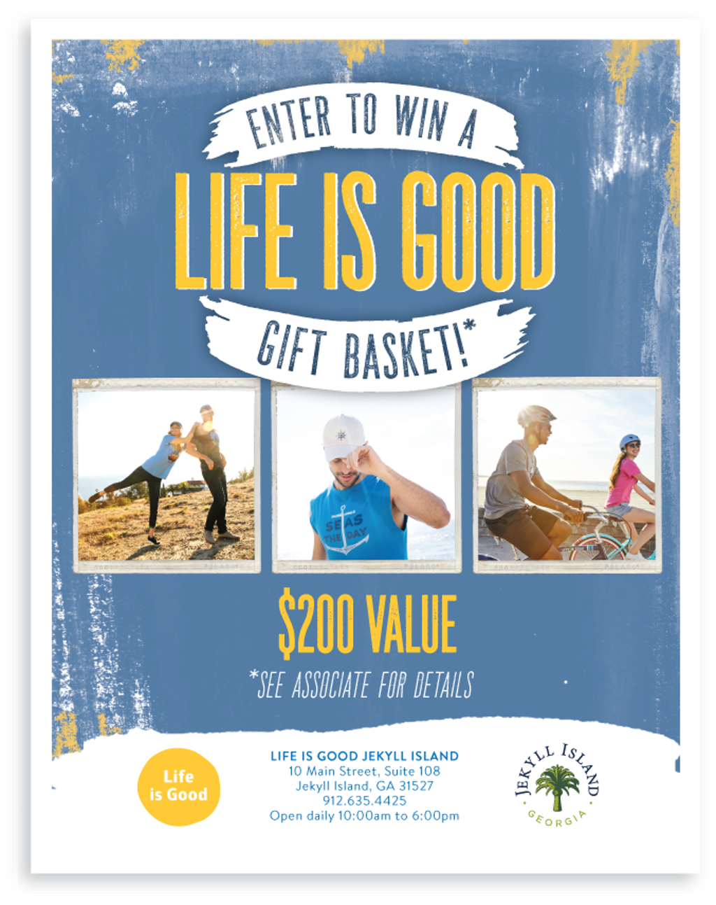 Enter to Win, Life is Good, 2018