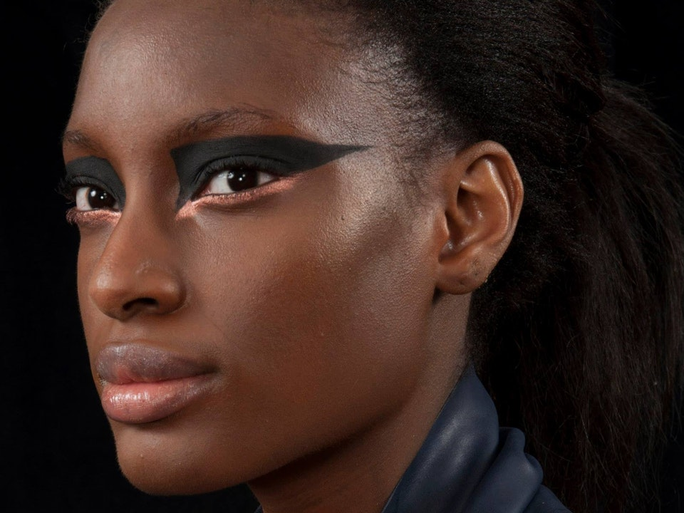 Editorial - Photos: Dominic Tschudin & Adele Watts.  Designer: Izzy Parker MUA: Lucy Freeman Model: Sheyi at The Eye Casting Ltd