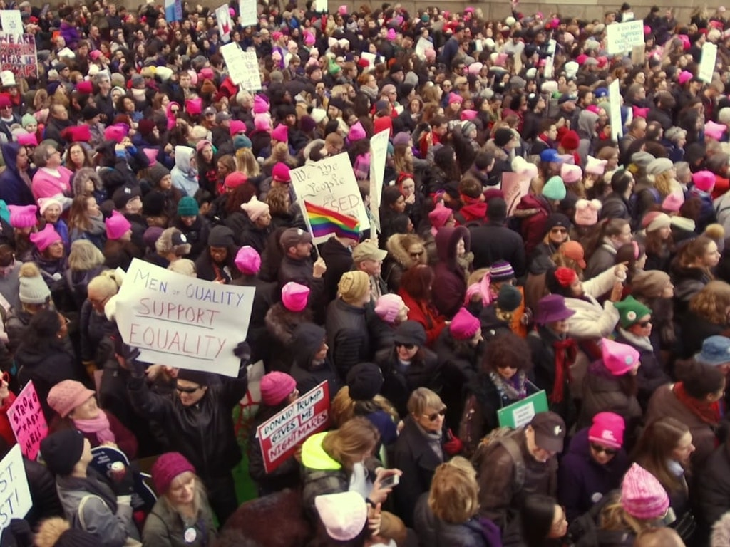 Bustle // Women's March Coverage 2018