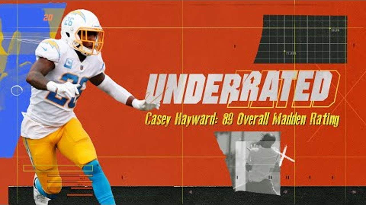 Chargers DB Casey Hayward Tries to Break 90 on His Madden Rating | Underrated S1E6