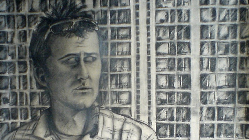 Self Portrait - Numbers - Charcoal on paper