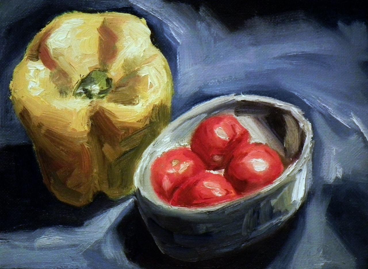Yellow Pepper & Tomatoes