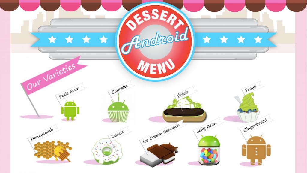 Android Dessert Menu