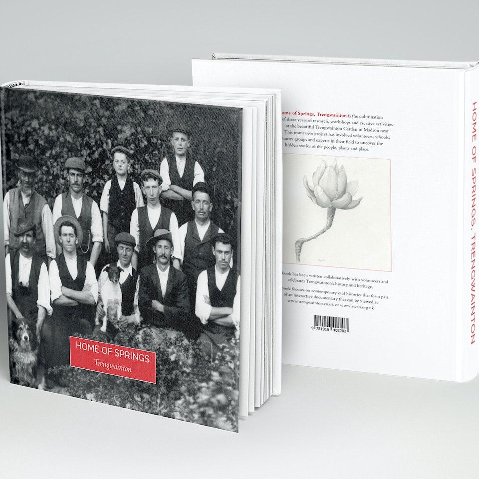 Home of Springs, Trengwainton Book Hardcover-Book-MockUp