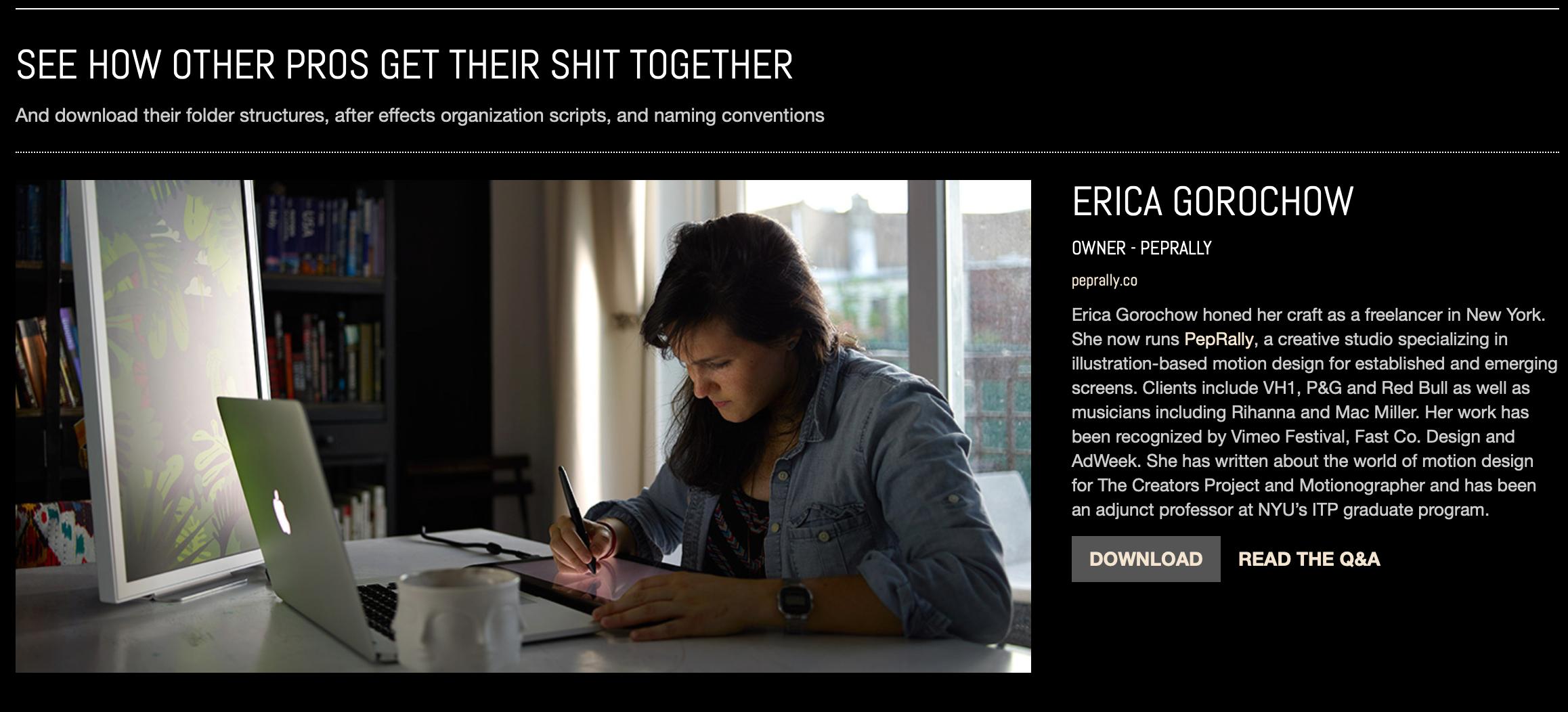 Erica Gorochow Workflow
