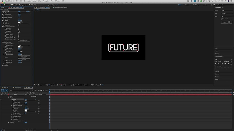 An overview of  Plugin Everything's Text Border & Effect Matte plugins for After Effects.