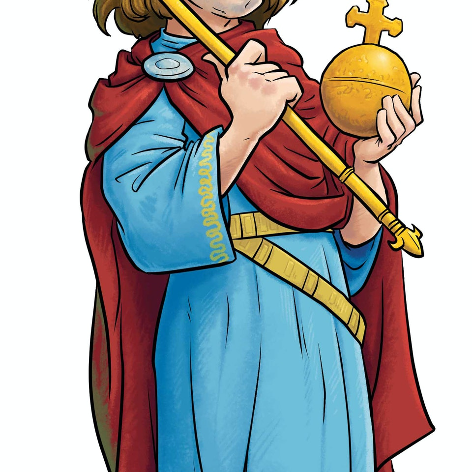 History & Science Illustration Charlemagne