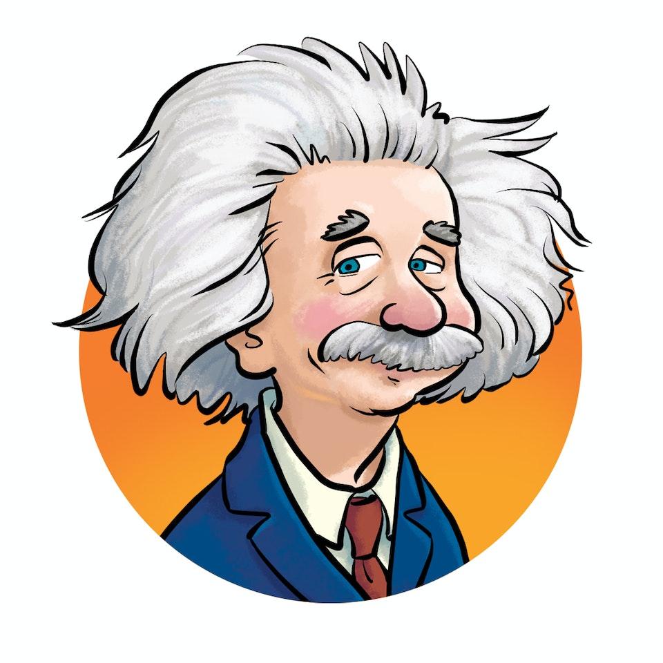 History & Science Illustration Einstein