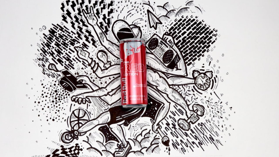 Red Can Doodle - Red Bull Product Launch