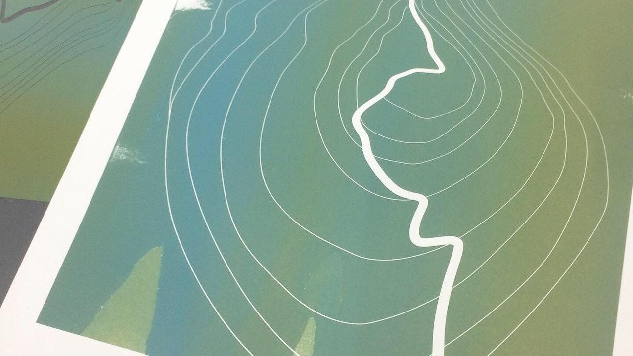Glastonbury Tor monoprint (28cm x 29cm) £220