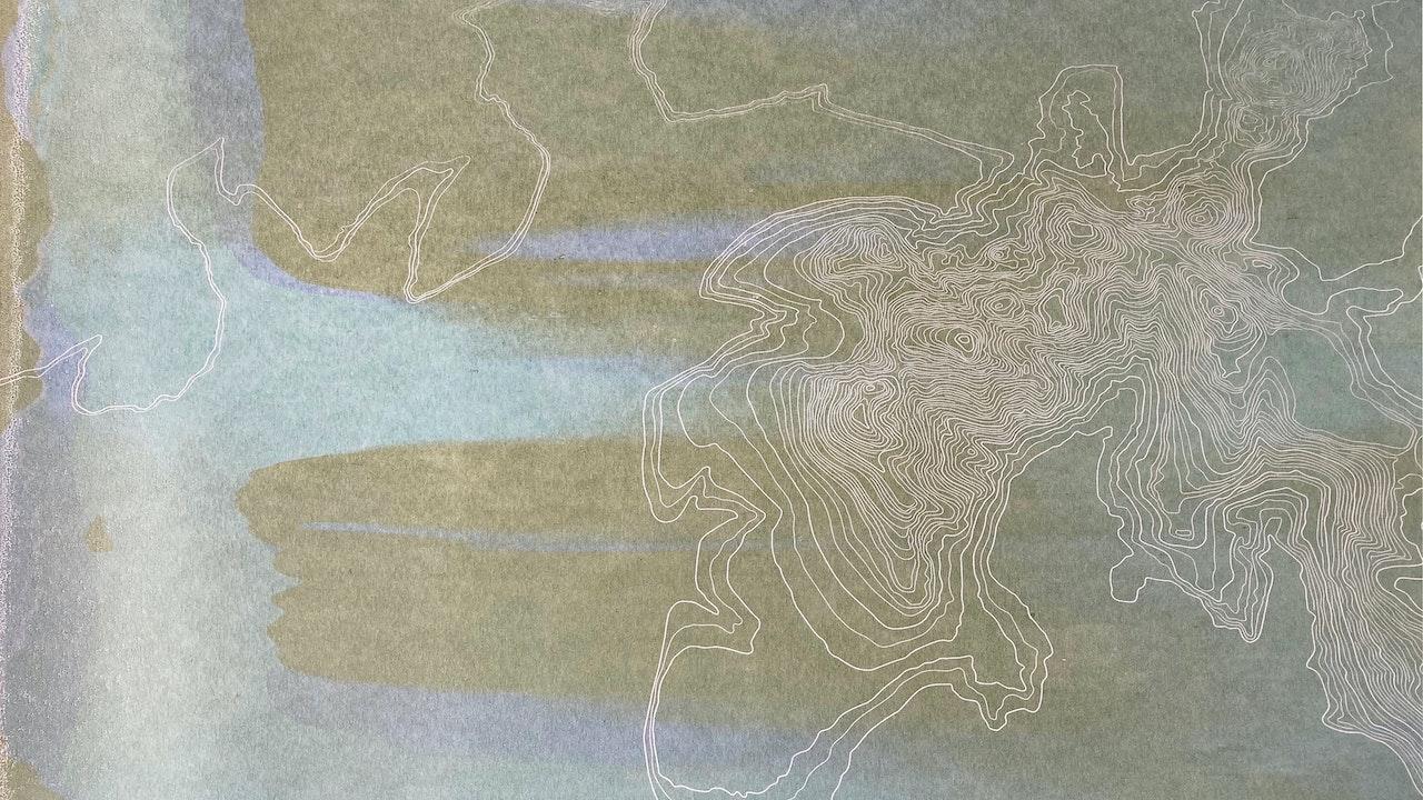 Scafell Pike monoprint (43cm x 35cm) Sold