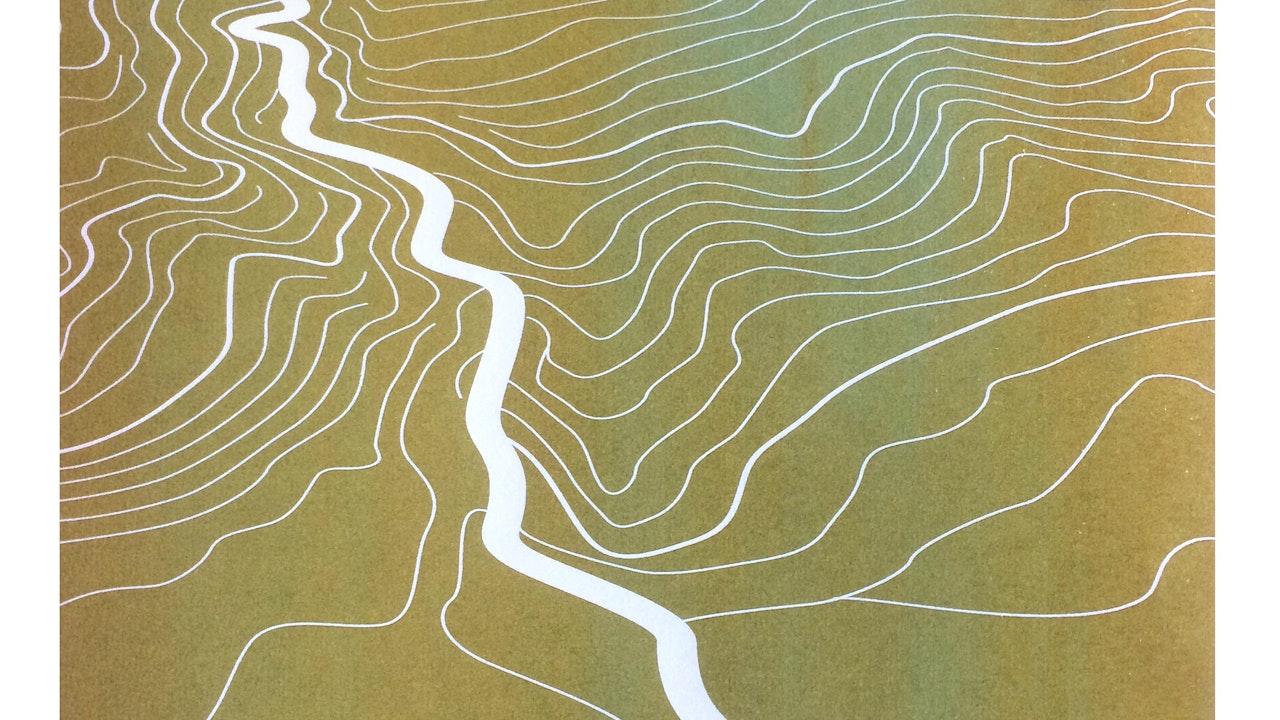 Cheddar Gorge monoprint (36cm x 26.5cm) £150