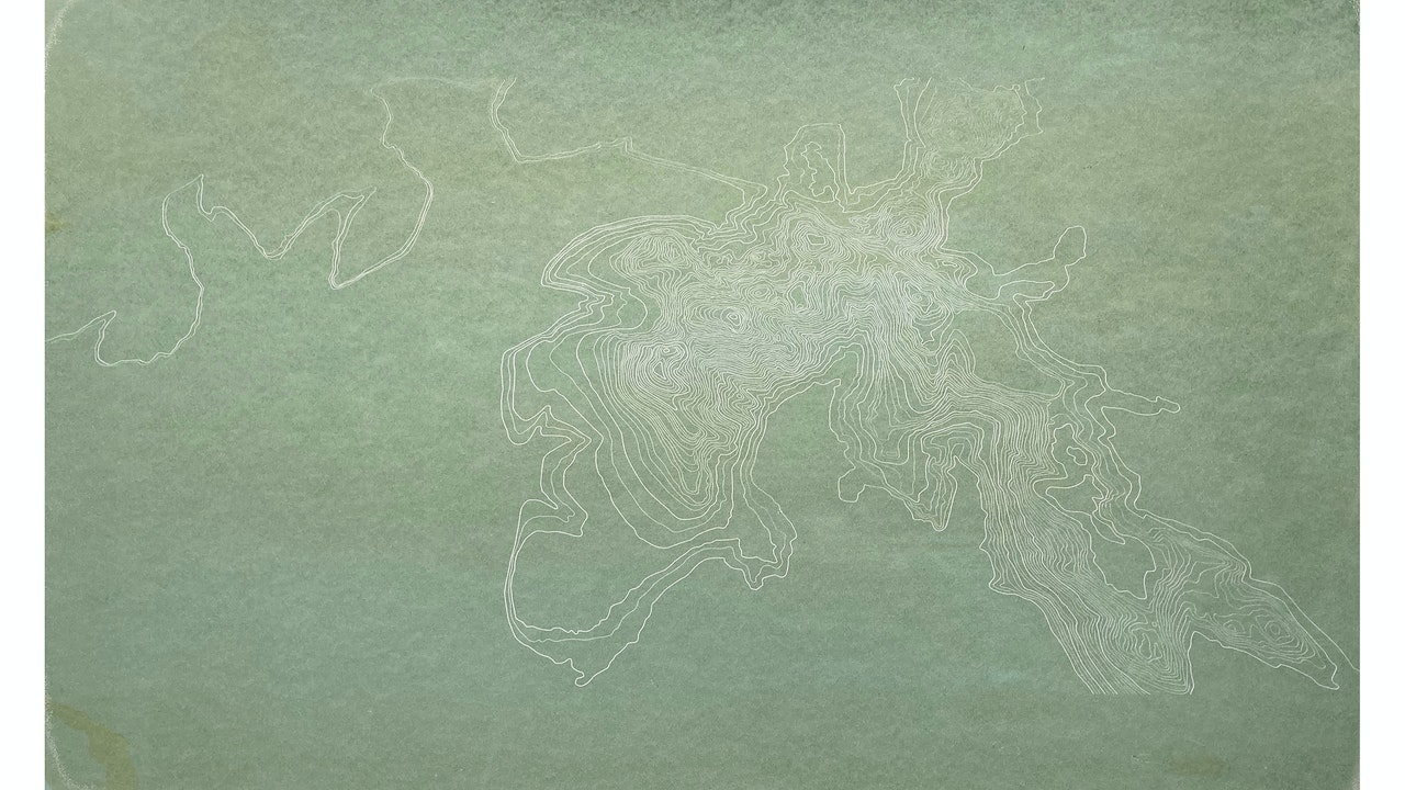 Scafell Pike light monoprint (55cm x 28cm) £260