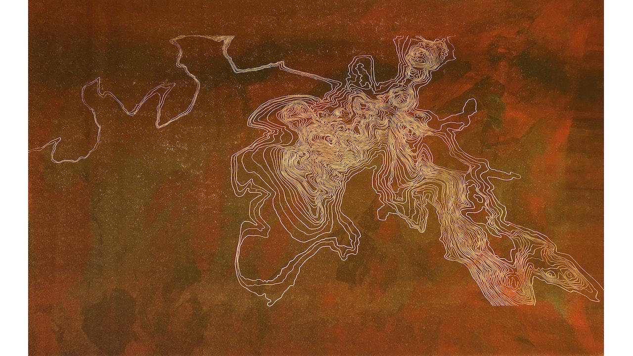 Scafell Pike (dark) monoprint (55cm x 28cm) £260