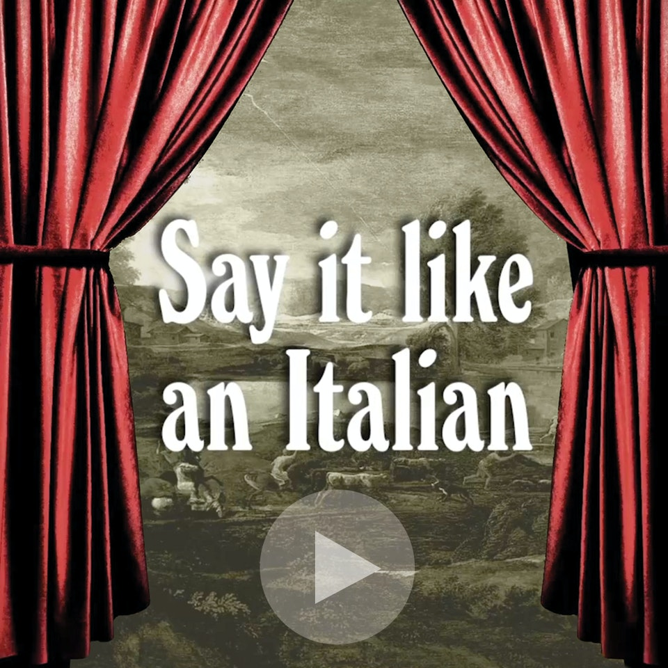 Michael Loos - FILM   Say It like an Italian