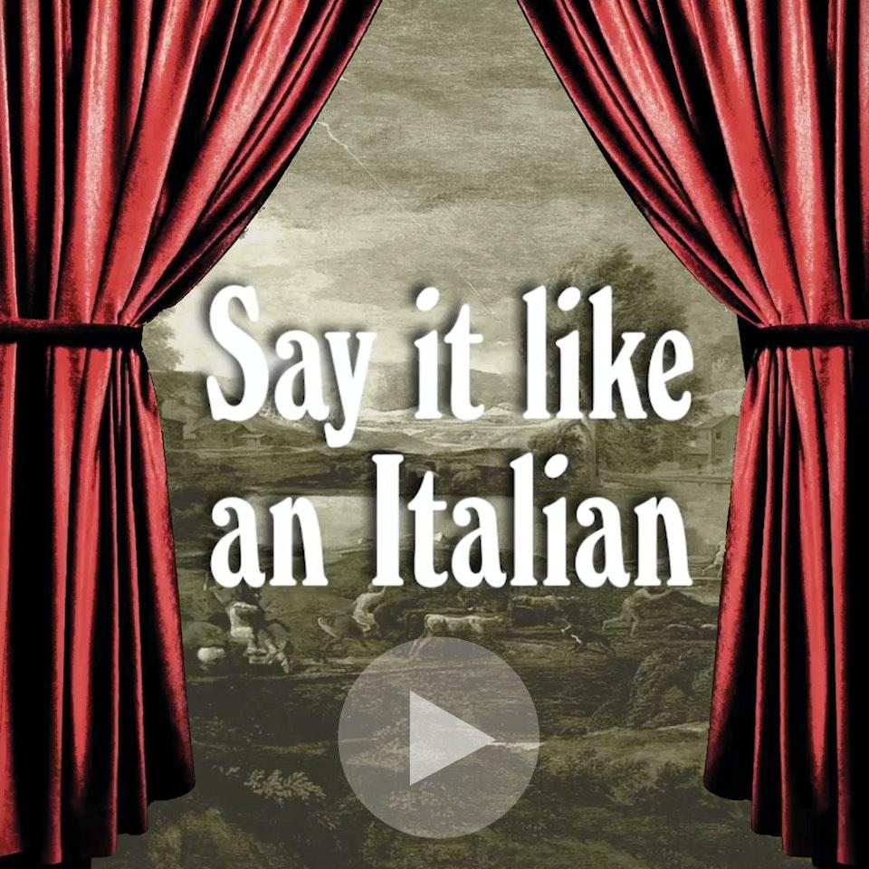 Michael Loos - Say It like an Italian