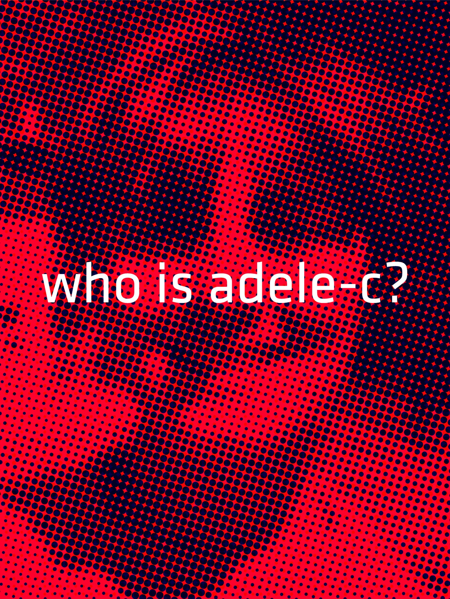 Michael Loos - Postcard-Adele-red